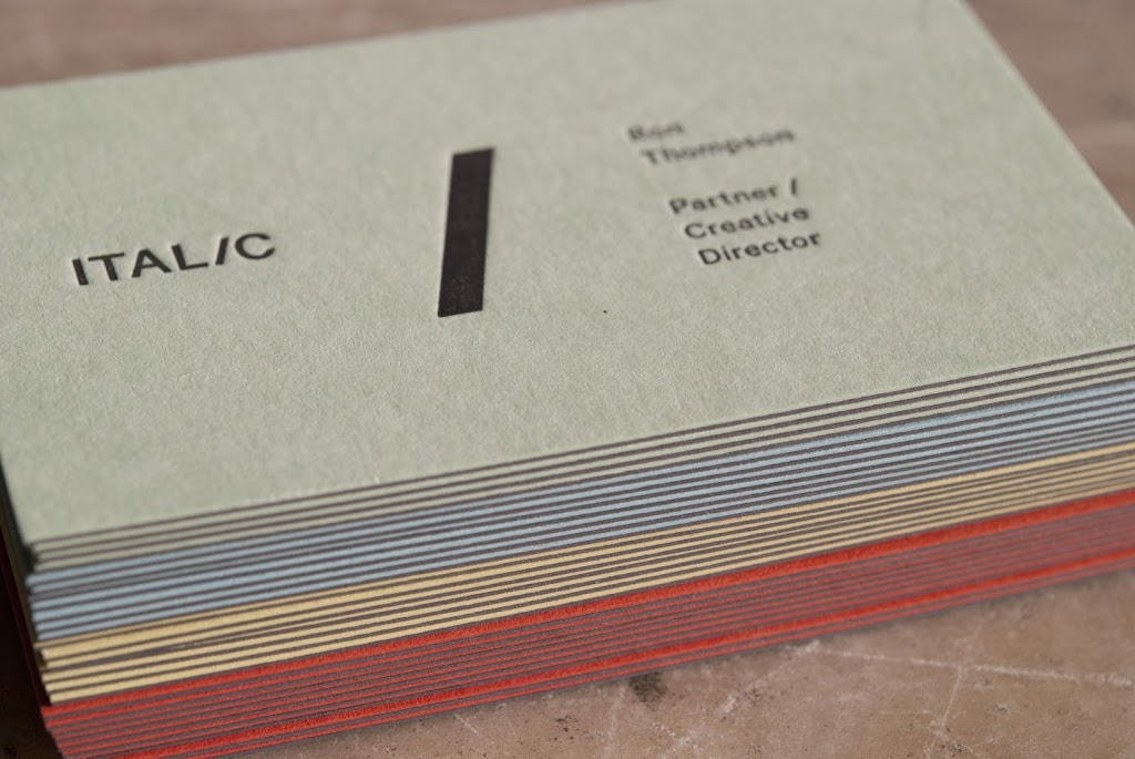 ITALIC Studio business cards - Evolution PressEvolution Press